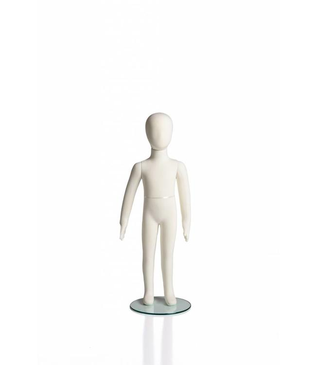 "4 years old kid flexible mannequin, 37""H cream fabric"