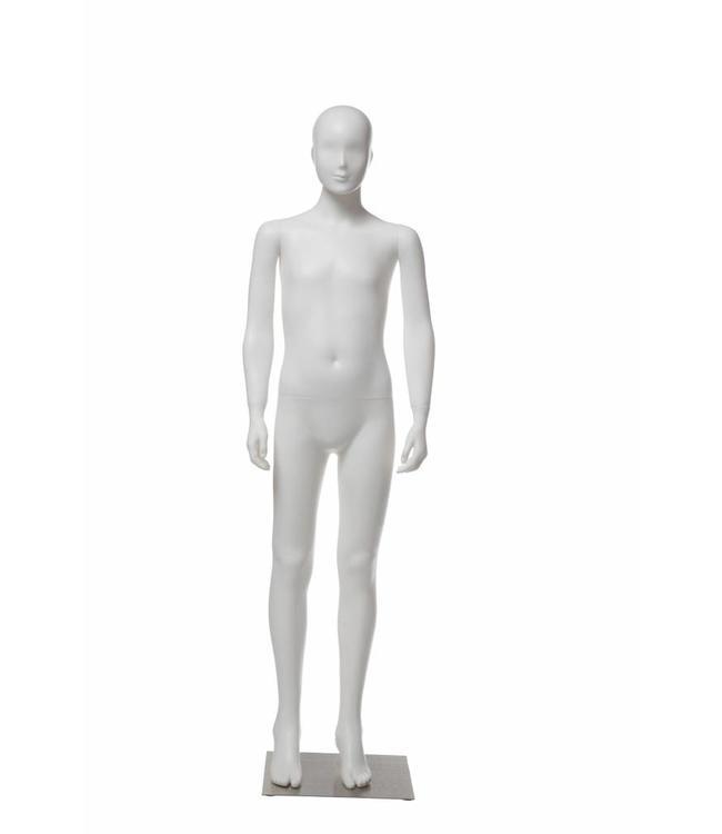 """Mannequins enfant plastique 10-12 ans blanc 61""""H"""