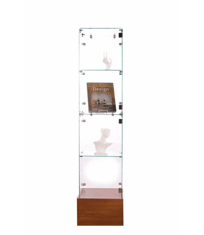 Tempered glass tower