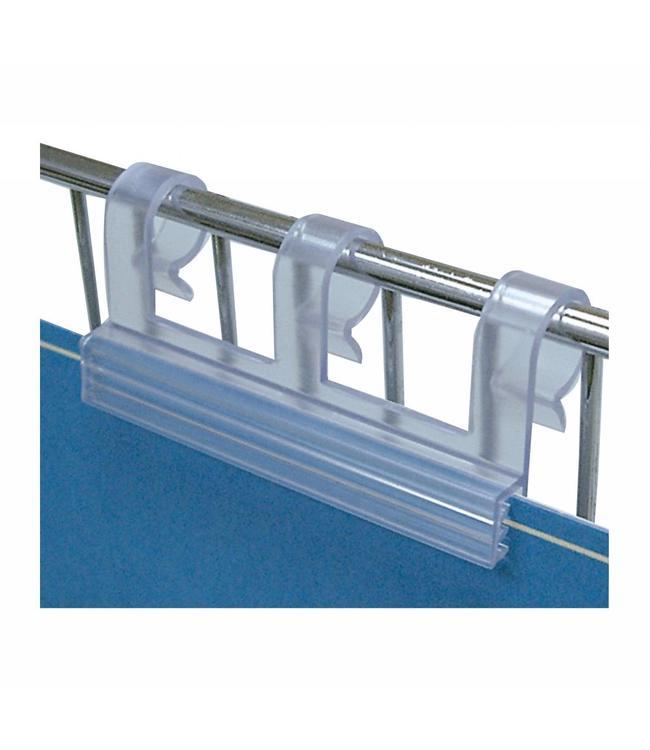 """Porte-prix pour fil métallique 2.5""""L pour affiche jusqu'à 0.065"""" d'épaisseur"""
