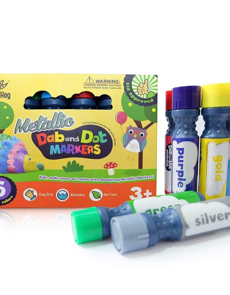 Doodle Hog Dab & Dot Markers - Metallic - Set of 6