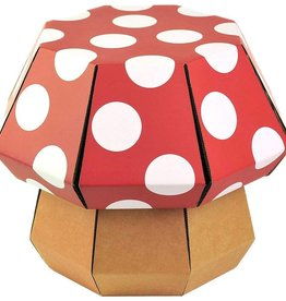 Doodle Hog DIY STEM Stool - Red & White Mushroom