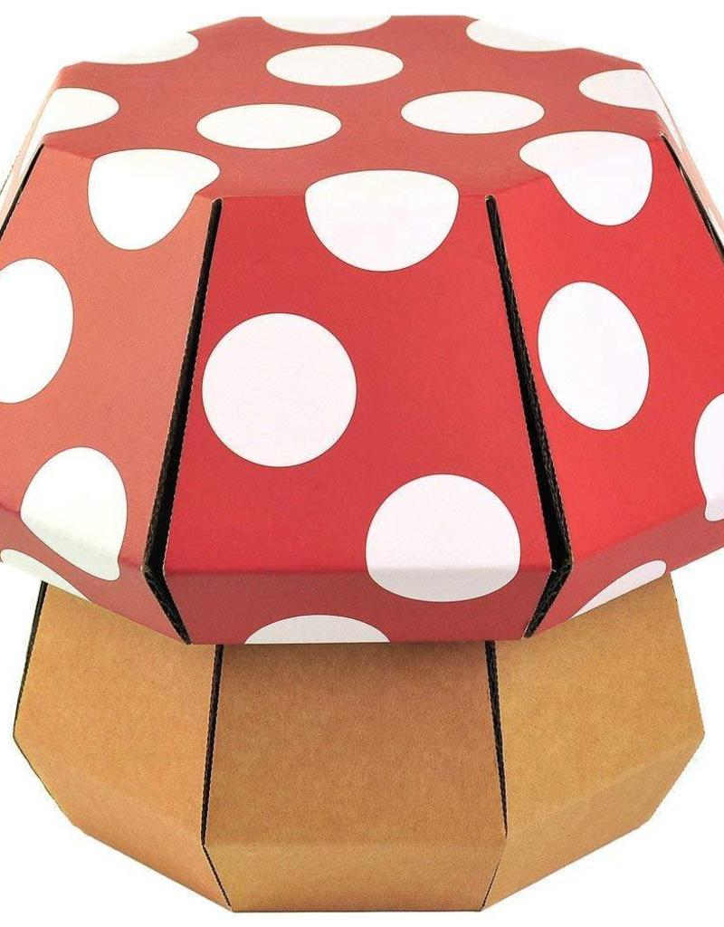 Doodle Hog DIY STEM Stool - Red & White Mushroom