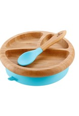 Avanchy Bamboo Suction Baby Plate + Spoon
