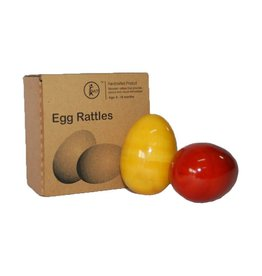 Baby Baazaar Egg Rattles Wood Toy Shakers