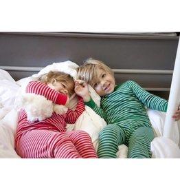 Skylar Luna Red/Silver Stripe Long Sleeve Pajamas