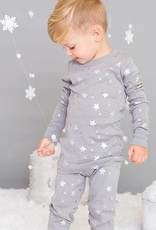 Skylar Luna Grey Stars Long Sleeve Pajamas