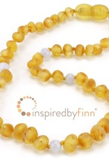 "Inspired By Finn Baltic Amber Necklace 13-14"" Unpolished Blue Harvest"