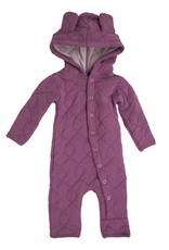 Kickee Pants Quilted Hoodie Coverall with Ears Scarlet Newborn