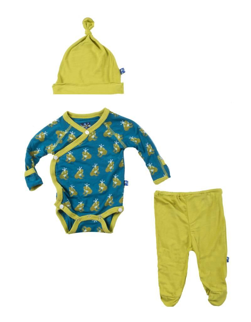 Kickee Pants Kimono Newborn Gift Set Frog Prince Premie