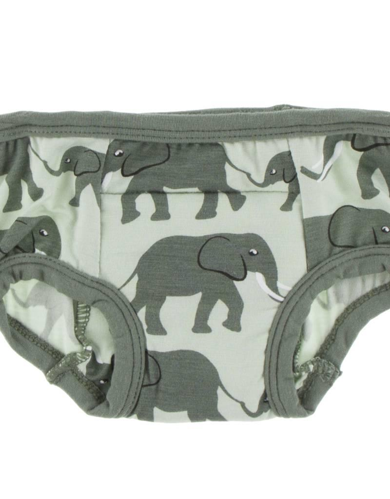 Kickee Pants Training Pants Set Aloe Elephant & Suede Bead 3T/4T