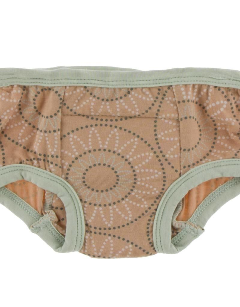 Kickee Pants Training Pants Set Aloe Elephant & Suede Bead 3T/4T