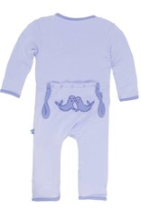 Kickee Pants Kickee Pants Applique Coverall Lilac Seals