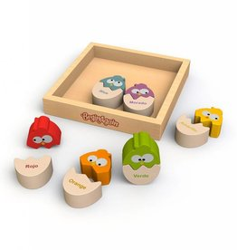 BeginAgain Color N Egg Bilingual Spanish Sorter Puzzle
