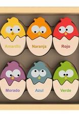 BeginAgain Color N Egg Bilingual Spanish Sorter Puzzle