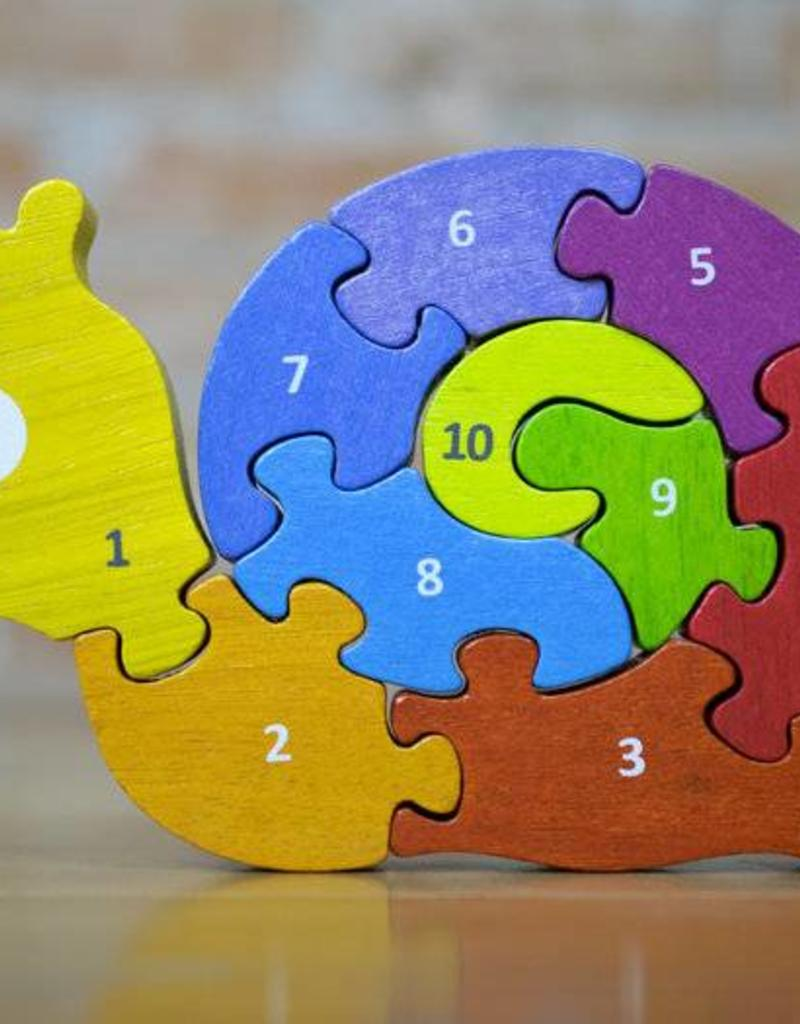 BeginAgain Number Snail Learning Counting Rainbow Puzzle