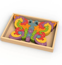 BeginAgain Butterfly A - Z Learning Counting Puzzle