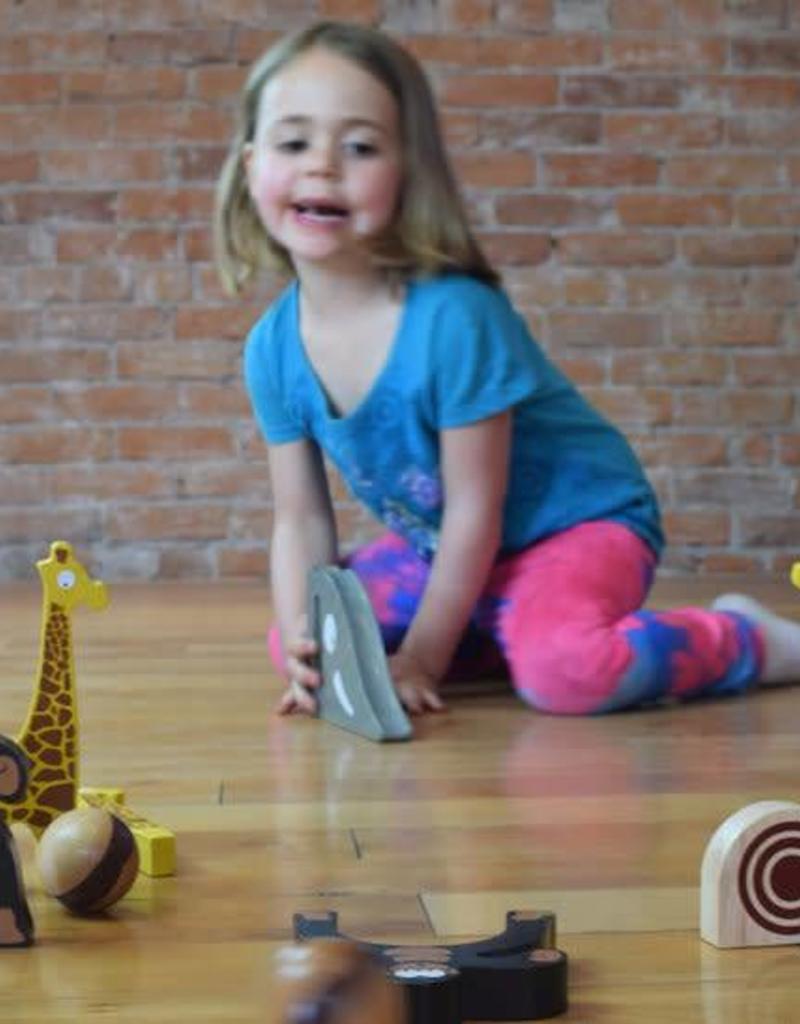 BeginAgain Safari Bowl - Toddler Bowling Game