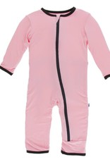 Kickee Pants Applique Coverall w/zipper in Teatime