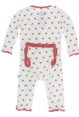 Kickee Pants Print Classic Ruffle Coverall w/zipper in Natural Rosebud