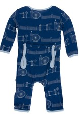 Kickee Pants Print Coverall w/zipper in London Cityscape