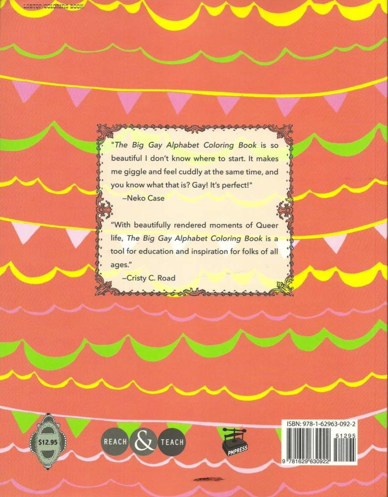 PM Press The Big Gay Alphabet Coloring Book by Jacinta Bunnell