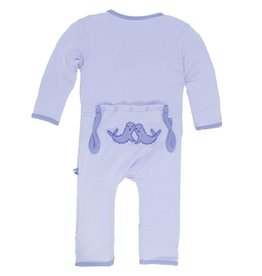 Kickee Pants Applique Coverall Lilac Seals