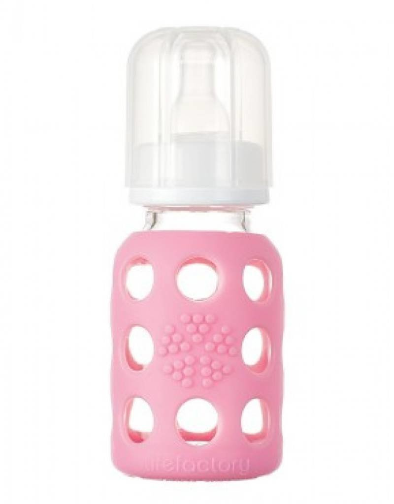 LifeFactory 4 oz Glass Baby Bottle