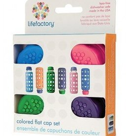 LifeFactory Colored Flat cap Set