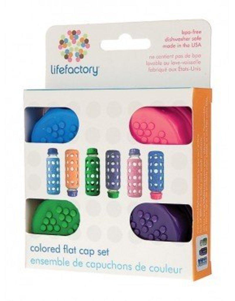 LifeFactory Colored Flat cap Set