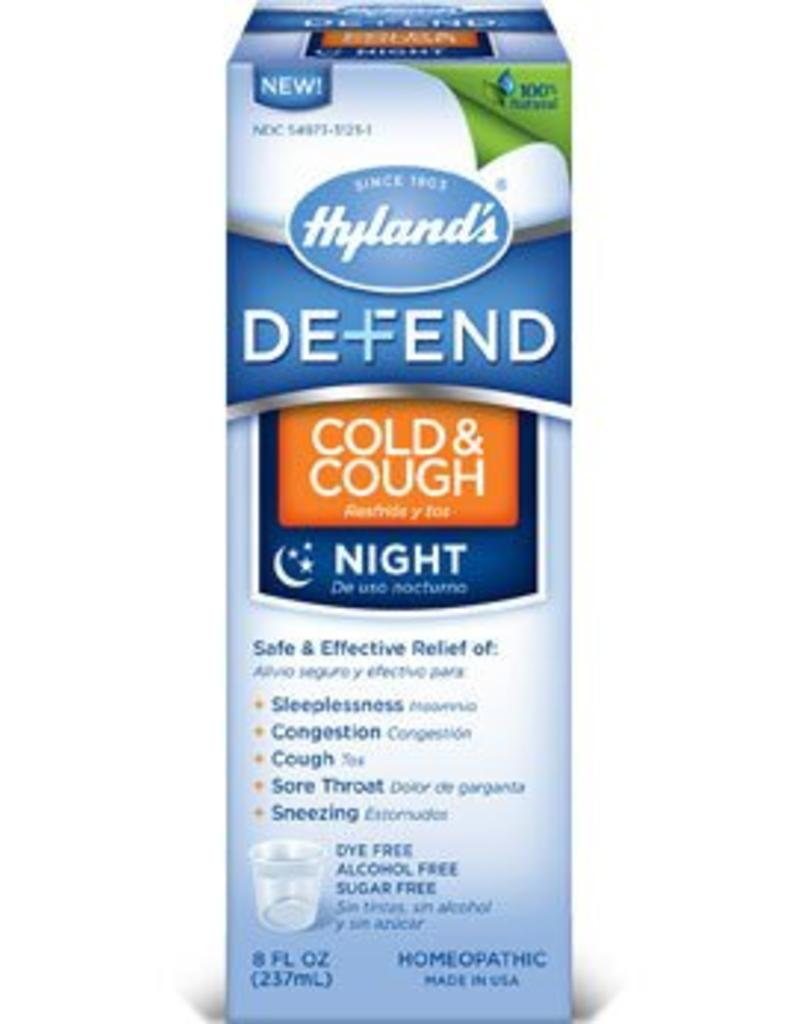 Hyland's Defend Cough and Cold Syrup Night