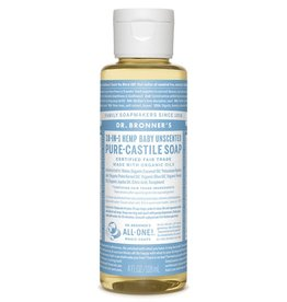 Pure Castile Soap Unscented Baby-Mild Soap 4 FL. oz.