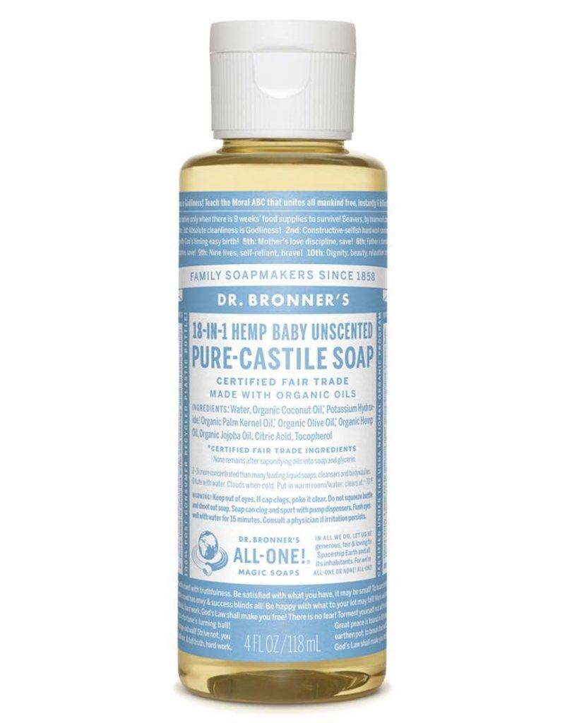 Pure Castile Soap Unscented Baby-Mild Soap 4 FL. oz.