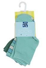 Kickee Pants Bamboo Socks Shady Glade, Boy Tropical Stripe, & Glass