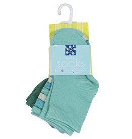 Kickee Pants Socks Shady Glade, Boy Tropical Stripe, & Glass