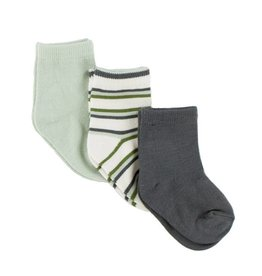 Kickee Pants Socks Aloe, Boy Freshwater Stripe & Stone