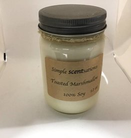 Simple Scentsation Toasted Marshmallow 12 oz Soy Candle