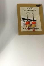 M&M Jewlery M&M Earring 18 Orange Creamsicle