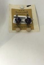 M&M Jewlery M&M Earring 18 Purple Planets