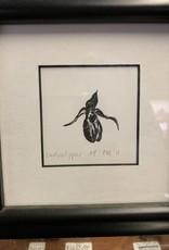 Maggi Rhudy Maggi Wood Engraving Prints Small Ladyslipper