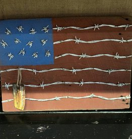Matt Newhall Newhalls Barb wire flag