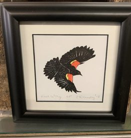 Maggi Rhudy Maggi Prints Red Wing Blackbird 6x6