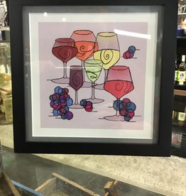 Susan Hicks Wine and Grapes by Melasdesign