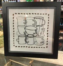Susan Hicks Mugs and Coffee Beans by Melasdesign