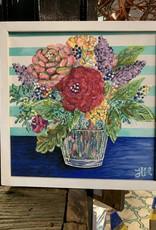 Square Floral Painting #12 Twelve