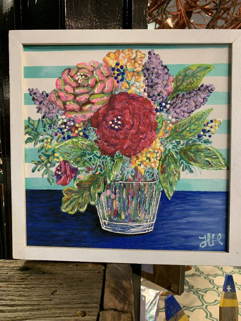 Jean Haynes Square Floral Painting #12 Twelve