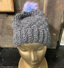 Crafty Little Snowbird Snowbird Wool Granny w/Pom Dark Gray
