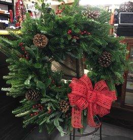 "Lisa Gaither 18"" Pine Wreath - Handmade"