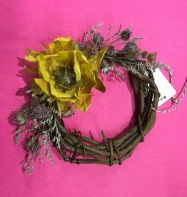 Dried Floral wreath small