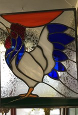 AAG White Rooster Stained Glass